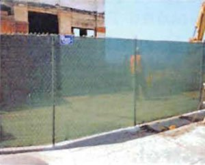 Post Driven Fence with Screen